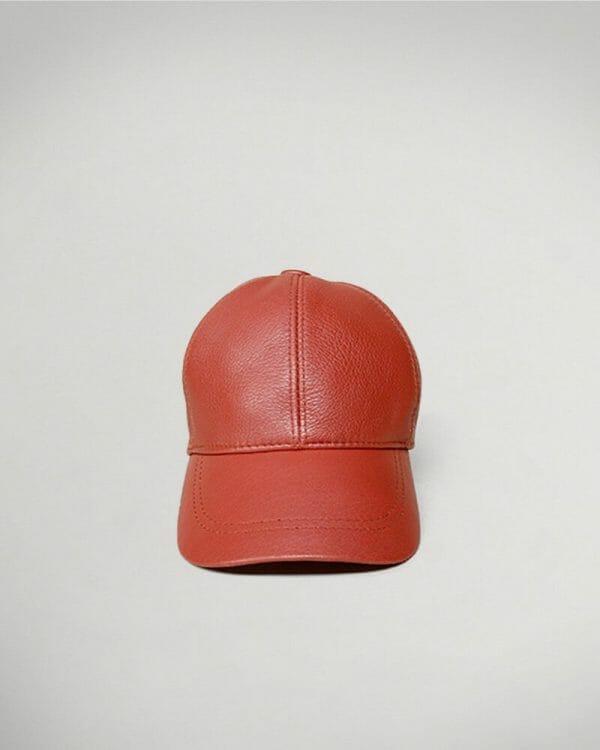 brick leather cap for men , Men's Fashion , Red Hats for men