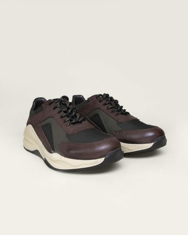 brown leather Trainers for men , Brown leather shoes for men,