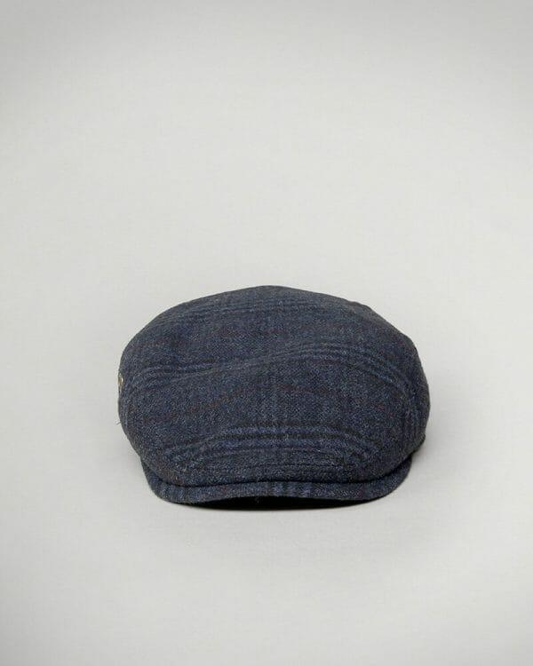 checked baker boy navy cap for men , checked baker boy navy Hat for men.