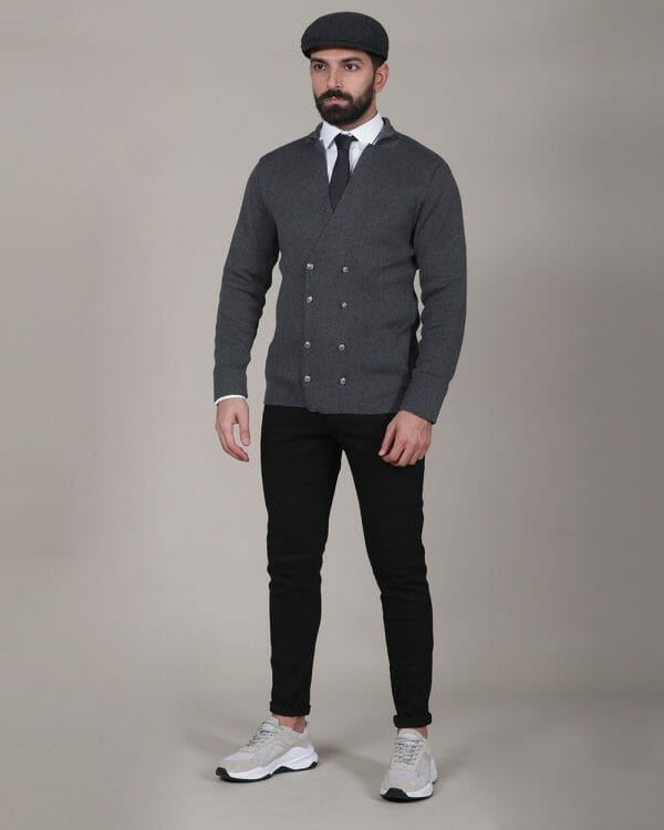 breasted grey design, Causal Wear For men, Men's Fashion