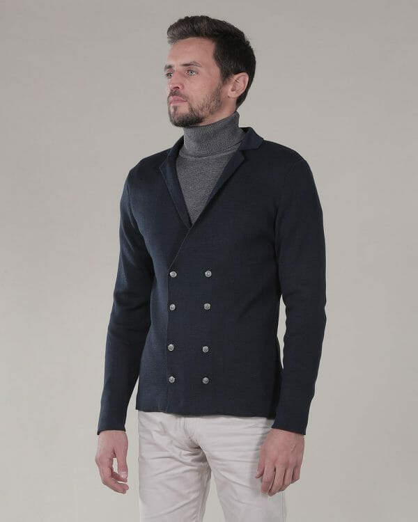 double breasted navy cardigan , Causal Wear For Men ,
