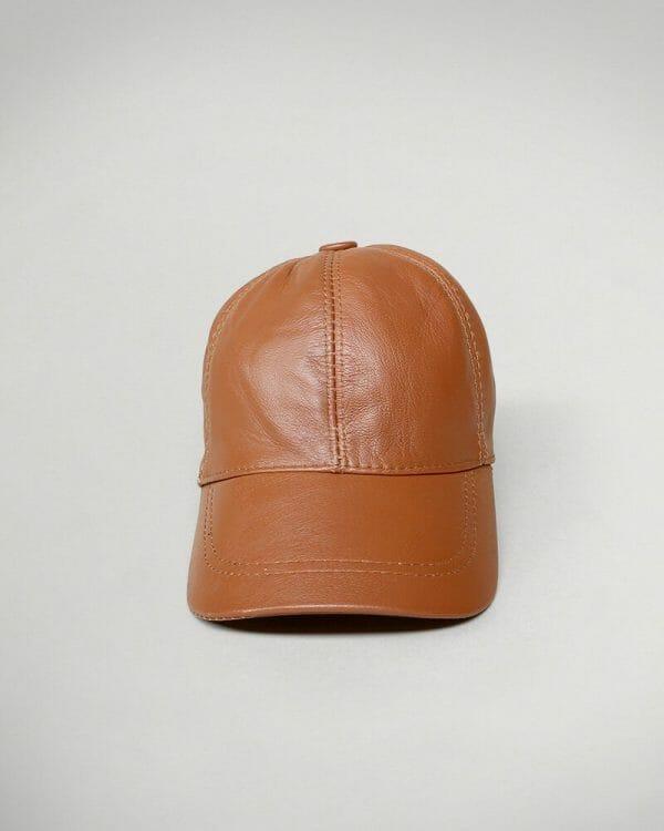 havana leather cap, havana leather hat for men