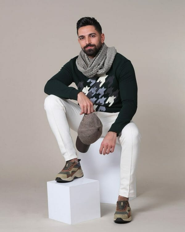 olive sweater for men