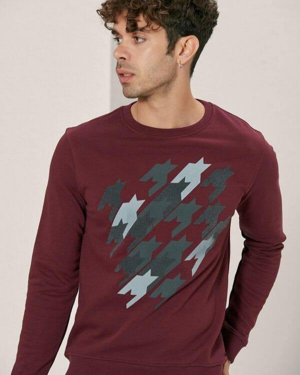 Burgundy sweater , Casual Wear For men , Men's Fashion