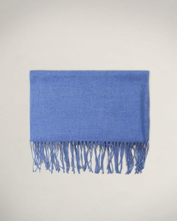 soft wool Blue scarf, Perfect Gift For Man