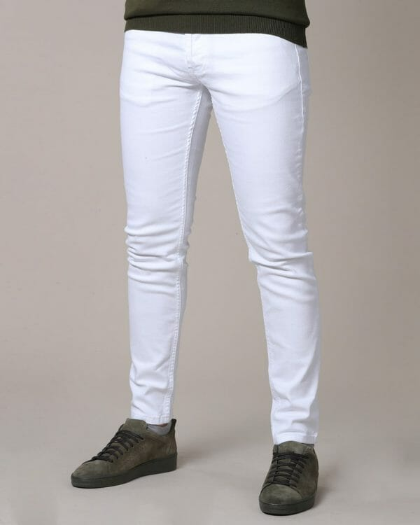 slim fit jeans for men , Jeans for men , White Jeans for men