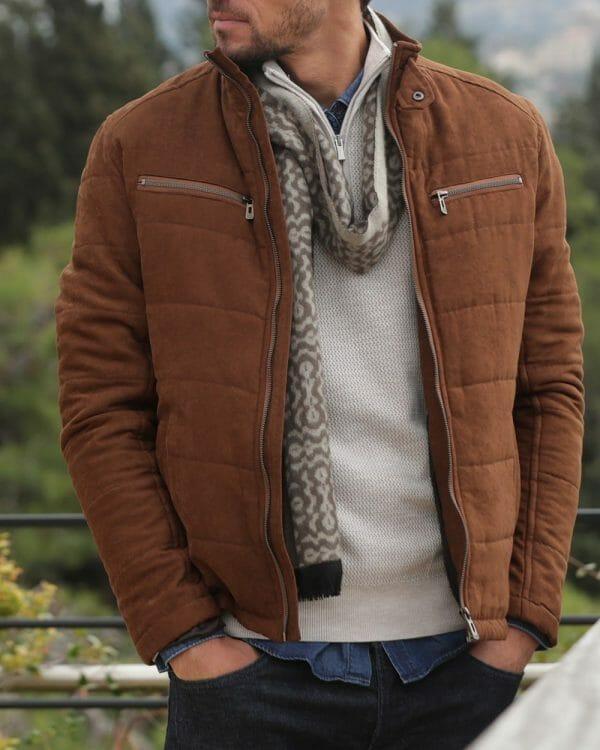 Brown Jacket For men, Causal Wear For men, البسة رجالية , Men's Fashion